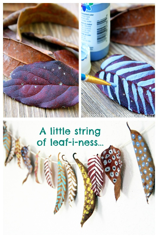 ReFab Diaries: Upcycle: Fall(en) Leaves garland ... Magnolias would be perfect!!
