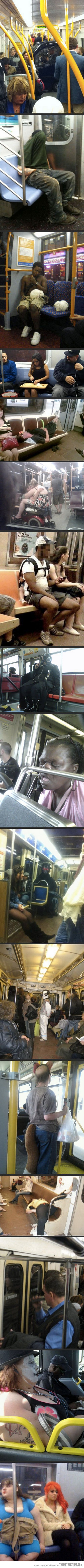 Things you'll only see in public transportation