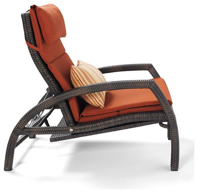 Traditional Chaise Lounge Chairs Outdoor And There Are Pillow Above