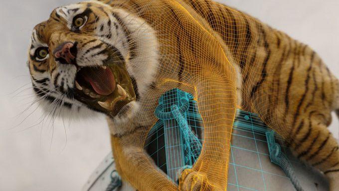 Tigre do PI em computação gráfica.