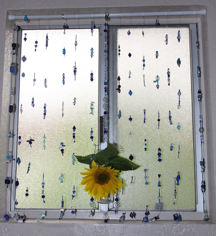 Express Your Creativity: Cobalt Blue Beaded Curtain