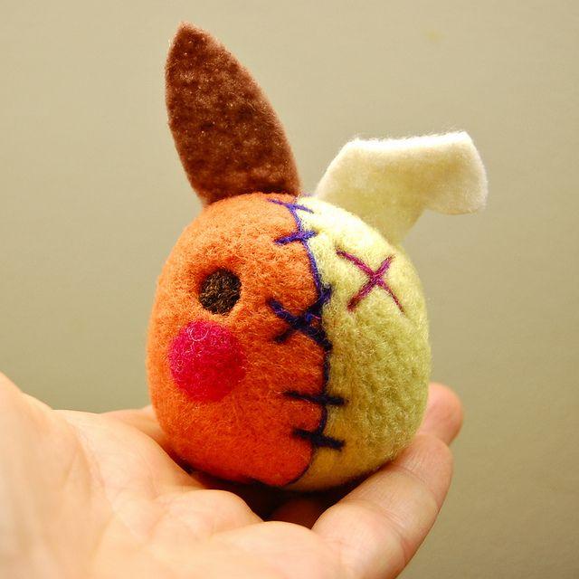 Awesome Wool Zombie Bunny by asherjasper!