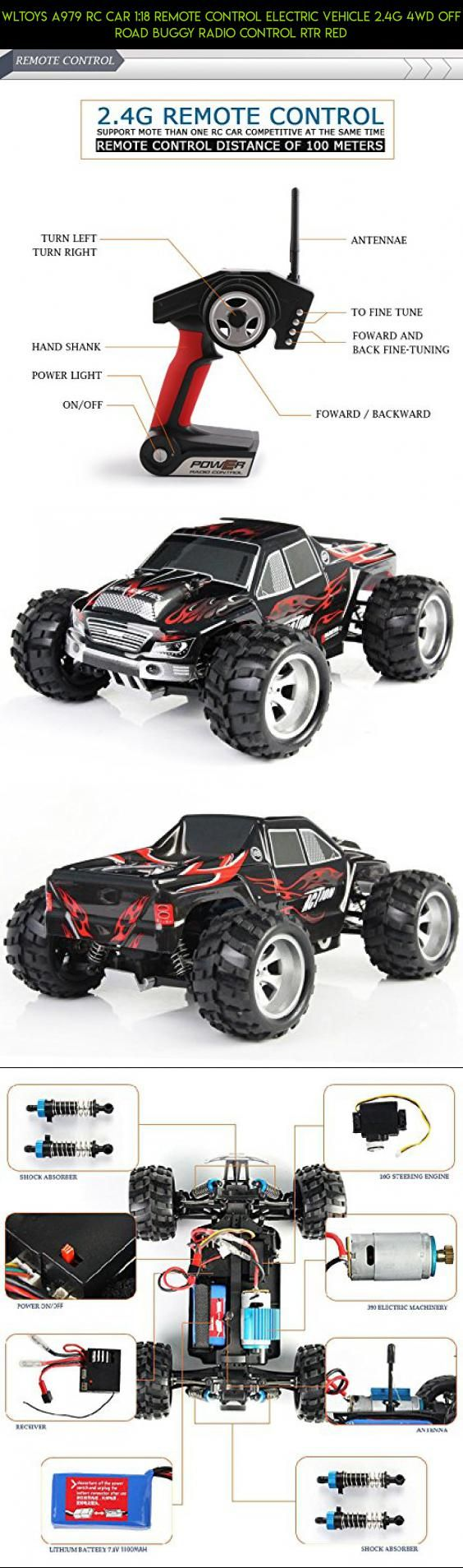 Wltoys a979 rc car 1 18 remote control electric vehicle 2 4g 4wd off road