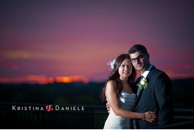 Great wedding sunset for Kristina + Daniele Married at The Country Club Golf Course Toronto   Avenida Garcia #clublinkwedding