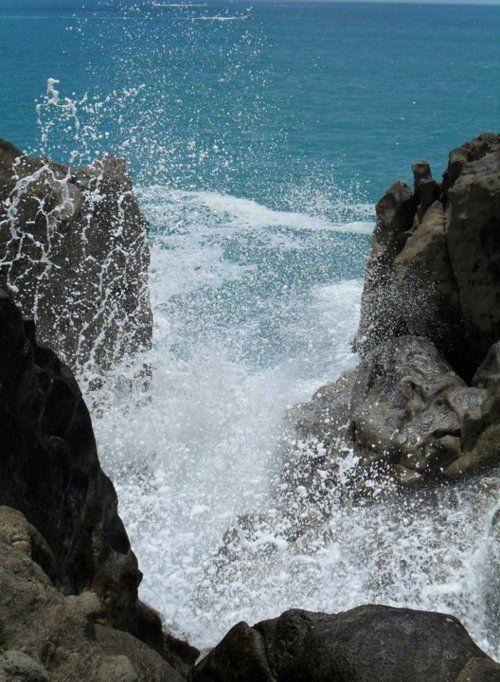 Splash on the rocks.