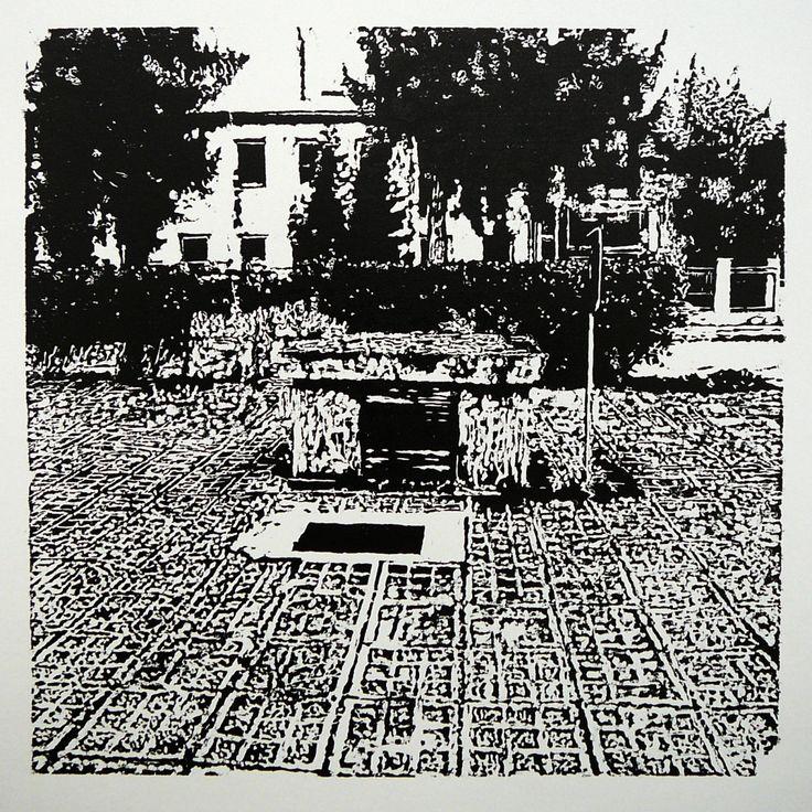 Dolný Šianec 1004-2  #printmaking #woodcut #bunker