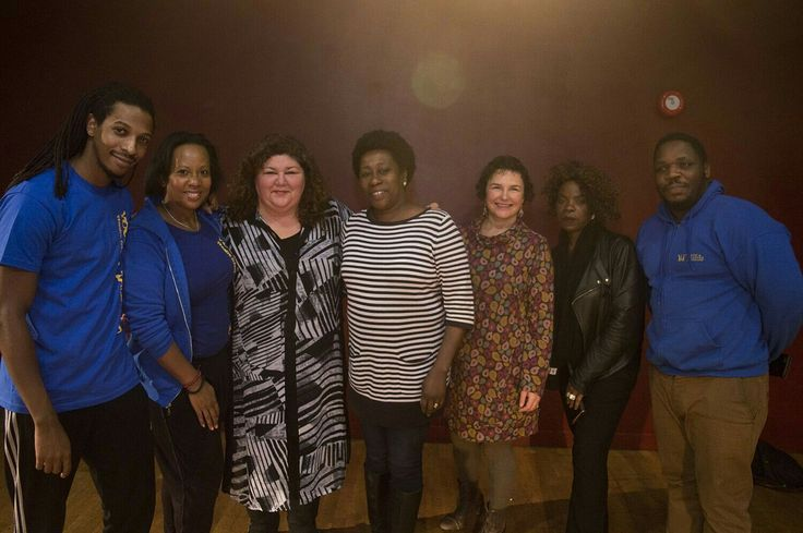 The Y&T team at Oxford House with Big Lottery representatives Jay Epega, Jackie O'Sullivan, our Tower Hamlets grant officer  Brenda Doku, and special guest Cheryl Fergison.