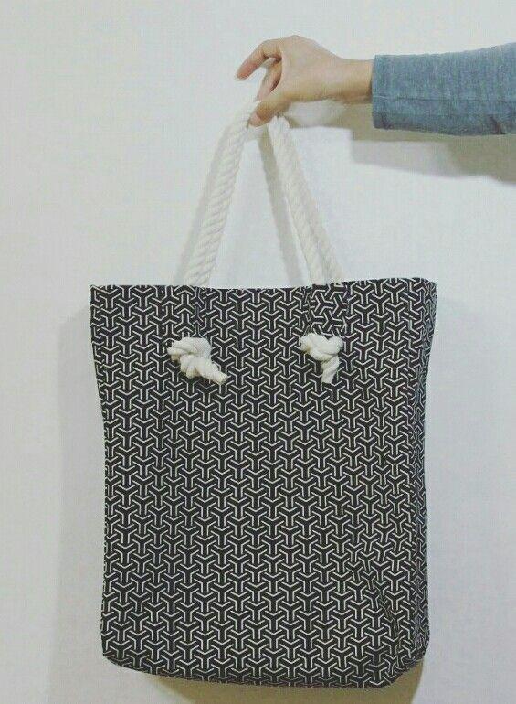 Eco bag. Pattern. Cotton. Hand made bag.