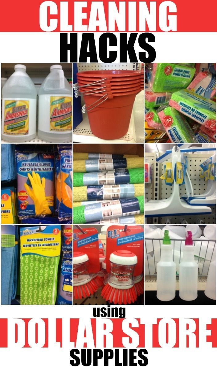 Cleaning Hacks Using Dollar Store Supplies