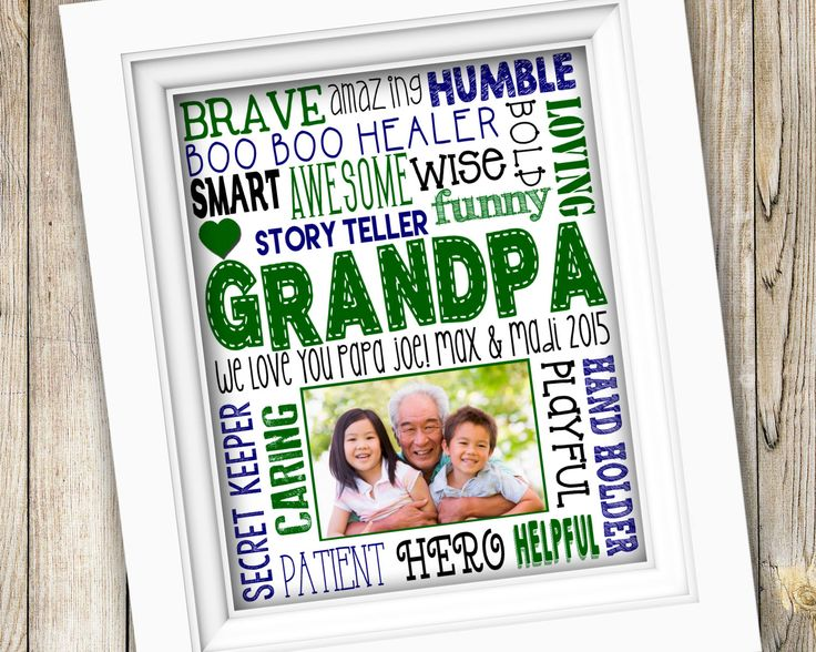 Fathers day gift printable grandpa gift from grandkids