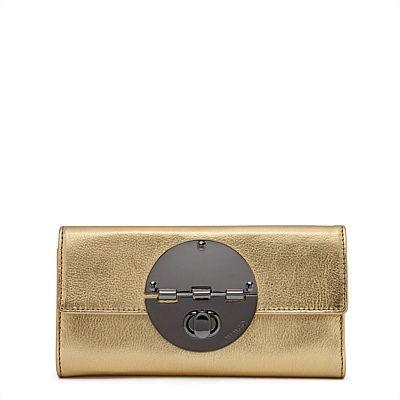 mimco gold turn lock wallet