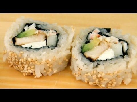 How To Make Sushi - Chicken Teriyaki Rolls... because some people will not eat raw fish.