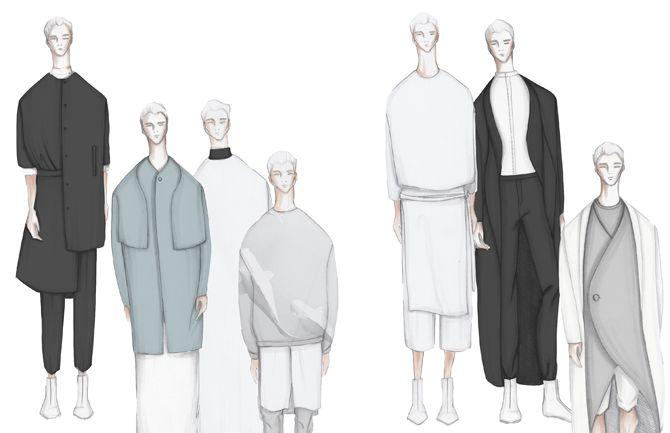 Fashion Sketchbook - fashion design drawings; lineup; fashion illustration; fashion portfolio // Maria Van Nguyen