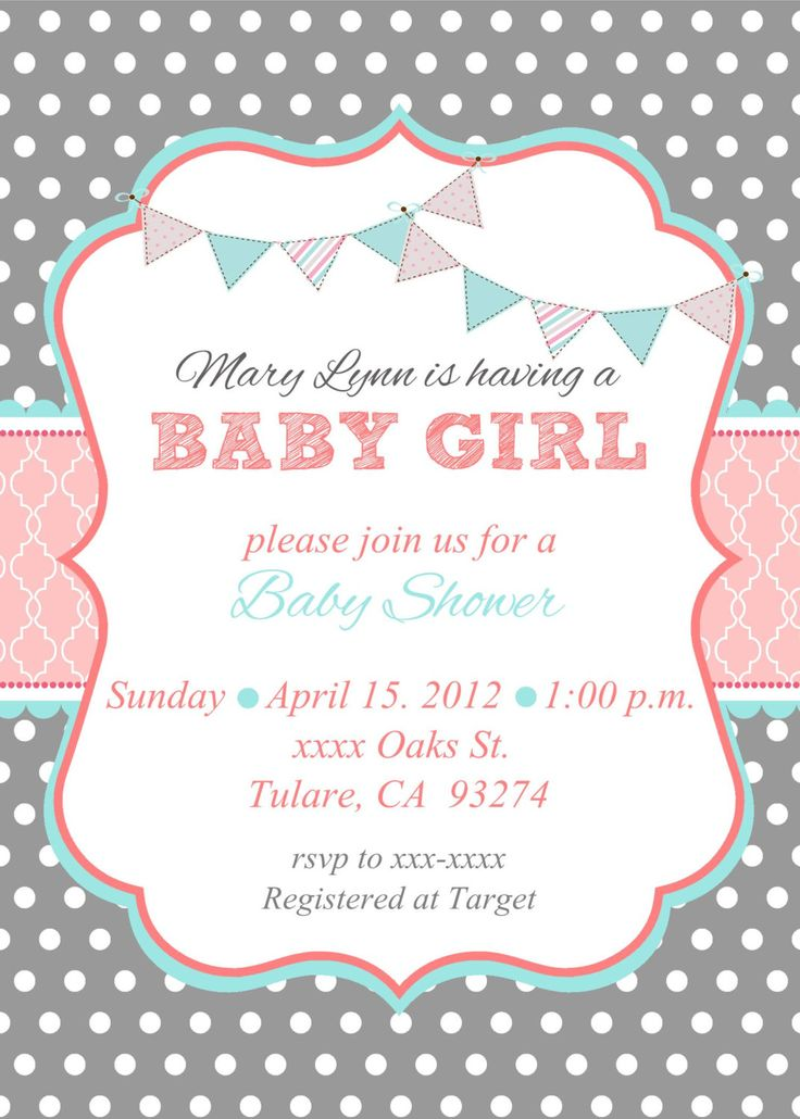 Baby Girl Baby Shower Invitation Wording is nice invitations layout