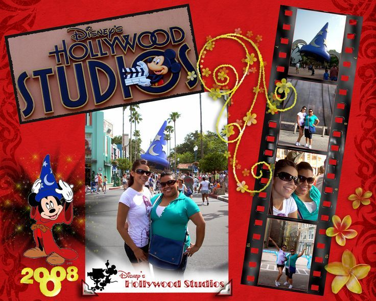 disney scrapbook layouts | Disney's Hollywood Studios - Scrapbook.com | Disney Scrapbook Pages a ...