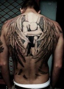 The 25 best angel tattoo on back ideas on pinterest angel back tattoo back wings 3d portrait urmus Gallery