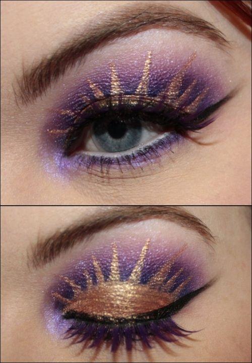 Tangled inspired make up!