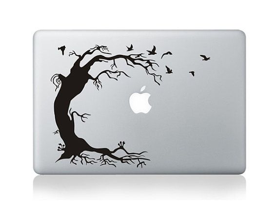 Tree birds macbook decal macbook pro decal by oliviabeauty 8 99