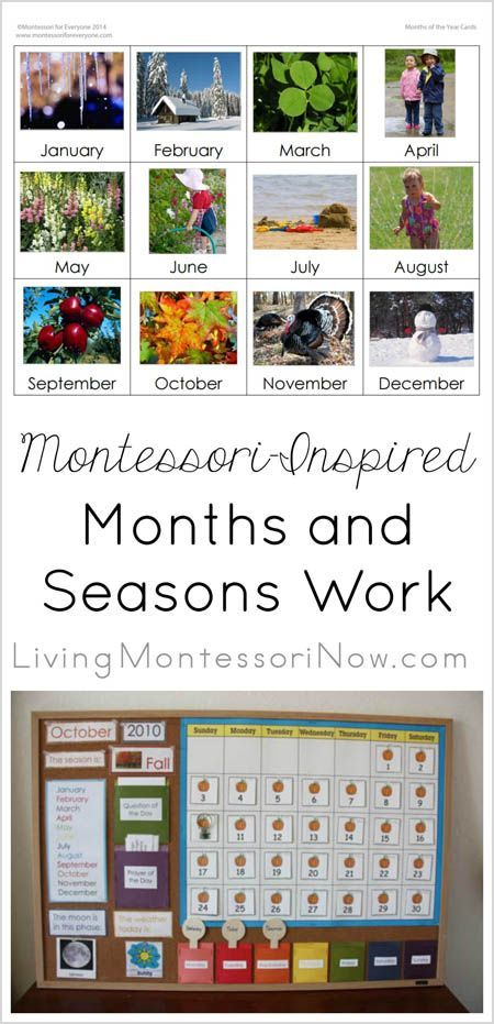Simple Magnetic or Velcro Calendar Activity Using Free Printables {Montessori Monday} - http://LivingMontessoriNow.com