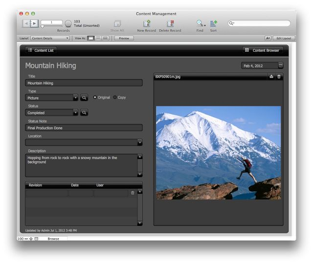 Content Management: FileMaker Pro 12 Starter Solution | The Mac Office
