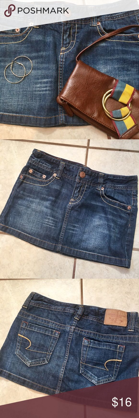 ⭐️NEW LISTING!⭐️ American Eagle jean mini skirt ⭐️🌸NEW LISTING!🌸⭐️ American Eagle jean mini skirt, size 4. Length measured from side seam to bottom of the hem is 12 1/4 inches. Accessories pictured available in separate listings. Be sure to bundle for great savings! American Eagle Outfitters Skirts Mini