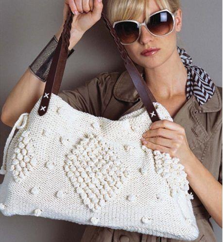 deri saplı örgü çanta
