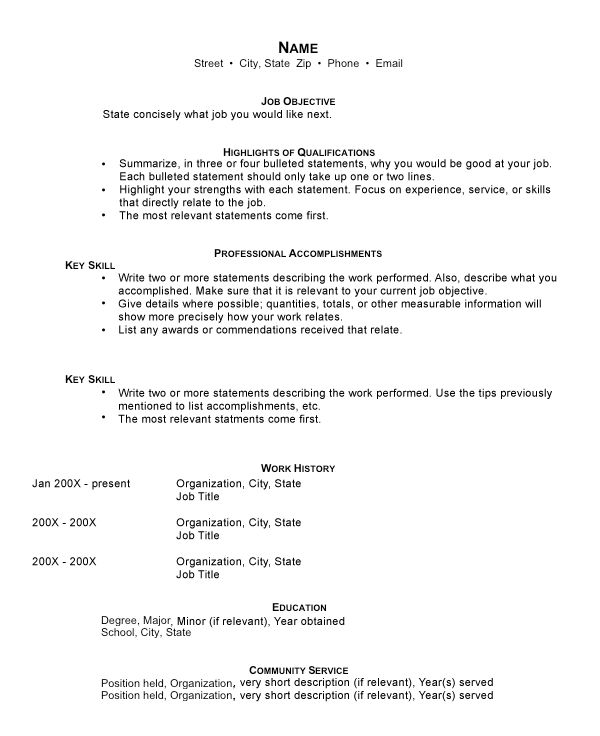 funcational resume template resume accomplishments examples - Professional Accomplishments Resume Examples