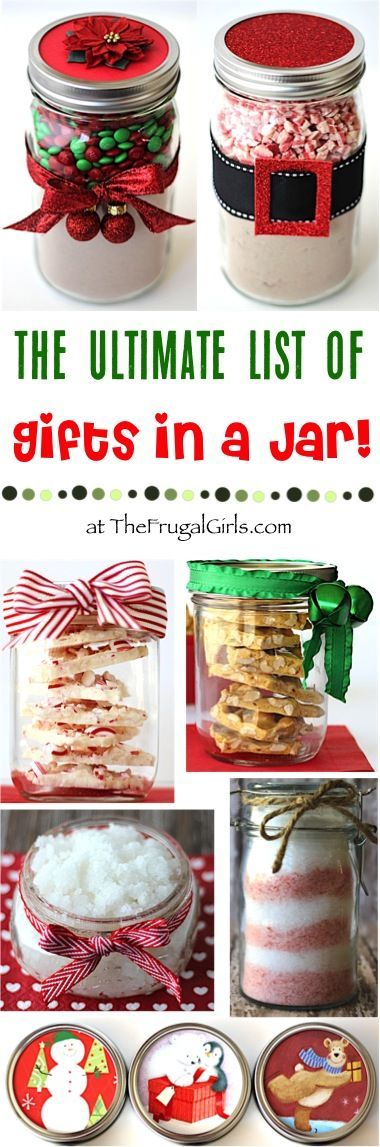 Gifts in a Jar Recipes! ~ from TheFrugalGirls.com ~ The Ultimate List of Mason Jar Homemade Gift Ideas! Easy to make and SO fun to receive!  So many fabulous Recipes, Sugar Scrubs, Bath Salts, and Sweet Treats to make this year a Homemade Christmas! #masonjars #giftsinajar #thefrugalgirls