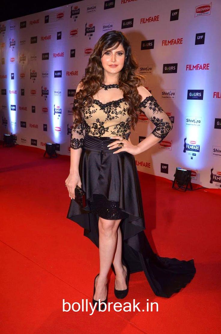 Zarine Khan Hot HD Pics in Black Gown from Filmfare Awards