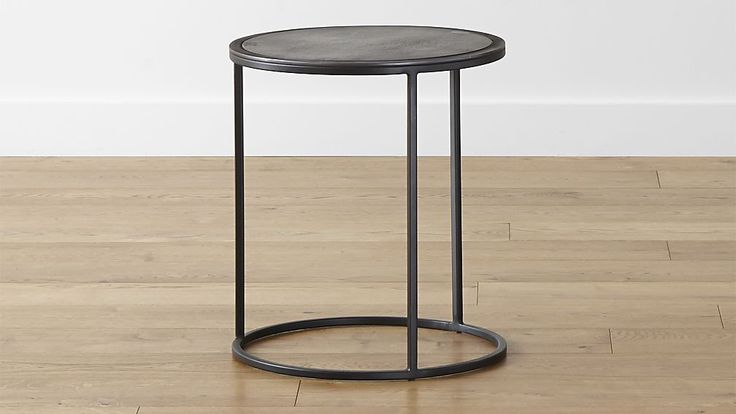 "Knurl Small Accent Table. 16"" diam means only one on the larger side. That's fine. I prefer the marble one but this would work."