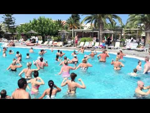 The more the merrier! Aqua aerobics class is a splash at Kipriotis Hotels and...it's fun! #KipriotisHotels #Greece #VisitGreece #Greece2016 #Vacation #Holidays #AquaAerobics #Pool #Summer #Family https://youtu.be/-v-thYeY2pc