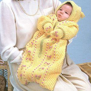 Baby Bunting Bag Crochet Patterns