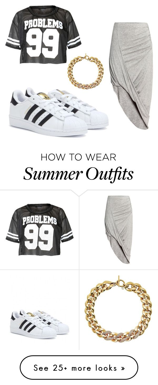 """""""Adidas Superstar~Summer outfit"""" by modaitaliana on Polyvore featuring H&M, adidas and Michael Kors"""