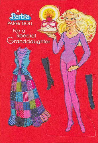 Vintage Barbie Birthday card, 1979