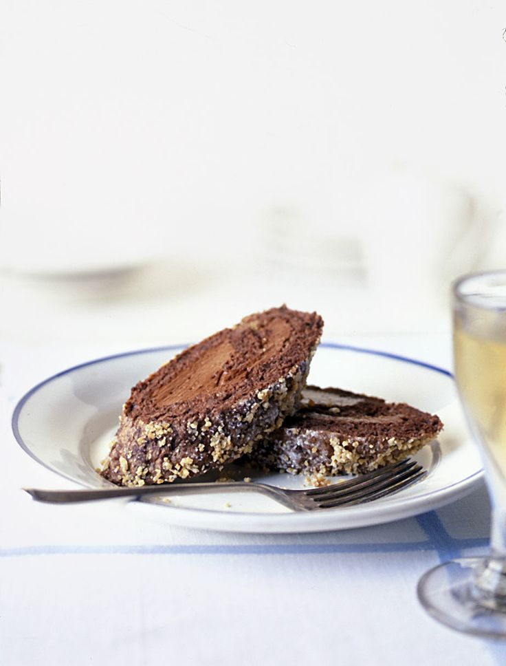 Chocolate espresso and hazelnut roulade