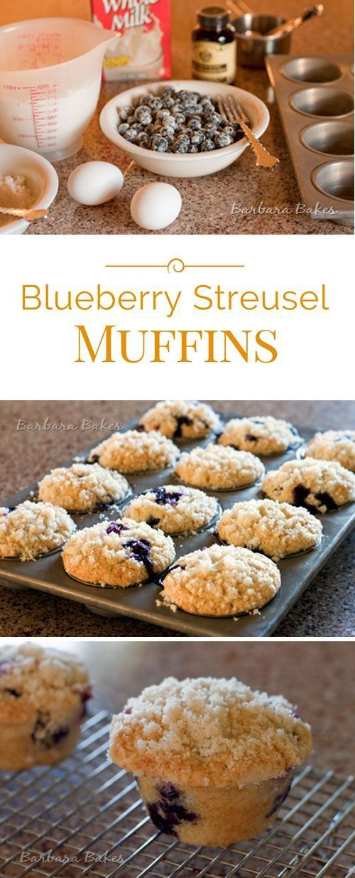 These are the Best Blueberry Streusel Muffins! They're big, beautiful and tender loaded with blueberries and crowned with a sweet crunchy streusel topping.