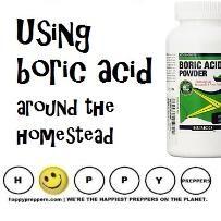 Boric acid around the homestead