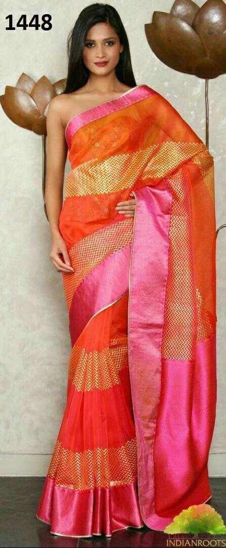 Zarna silk saree with blouse...select any..ready stock.multiple singles available