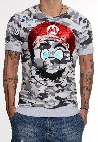 super mario camo   #vagrancylifestyle #handmade #sweatshirts #man