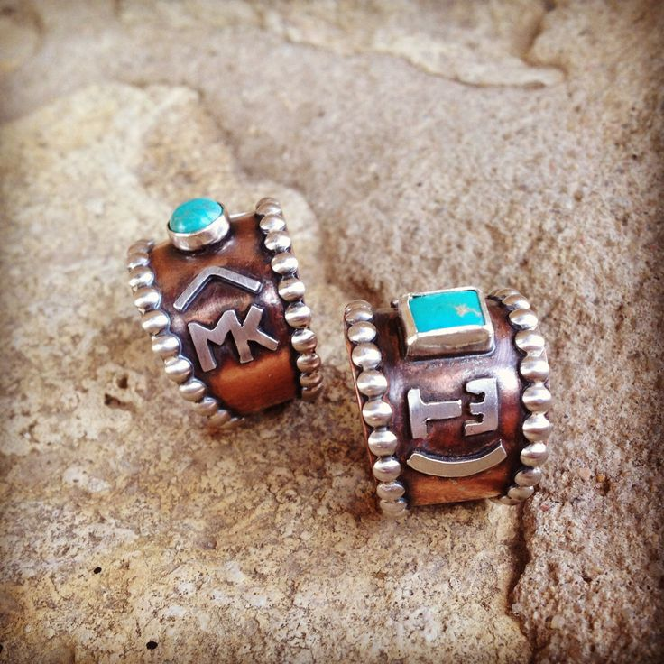 Custom brand rings. Hi everyone! FYI.... Erin Walker Petrocci, also known as Silo Silver, is the maker of these fabulous rings! Please contact her for further info!