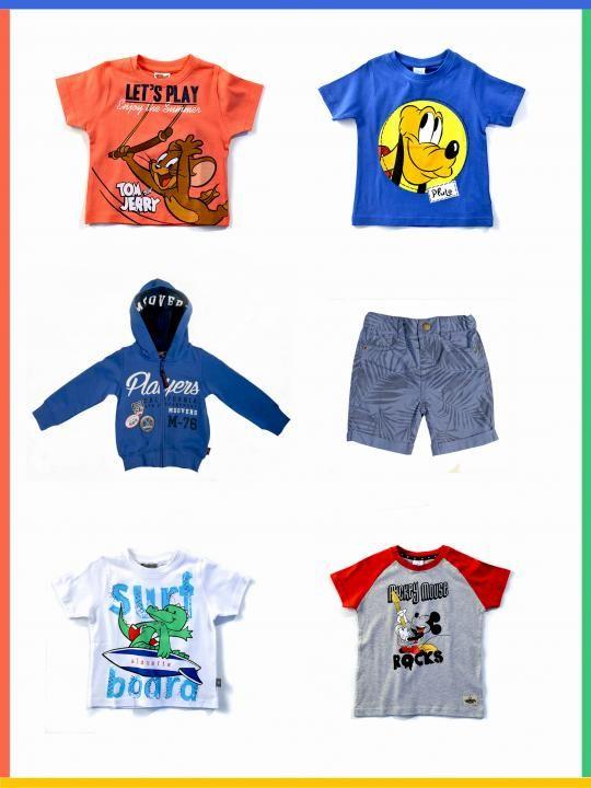 Ανοιξιάτικα και καλοκαιρινά ρούχα για αγόρια