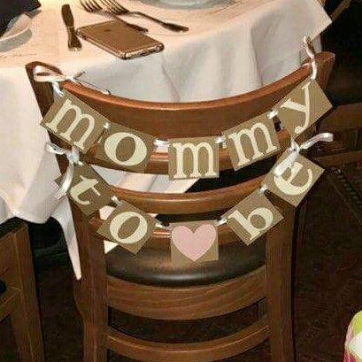 Baby Shower Banner Mommy to Be Banner Mommy to be Chair