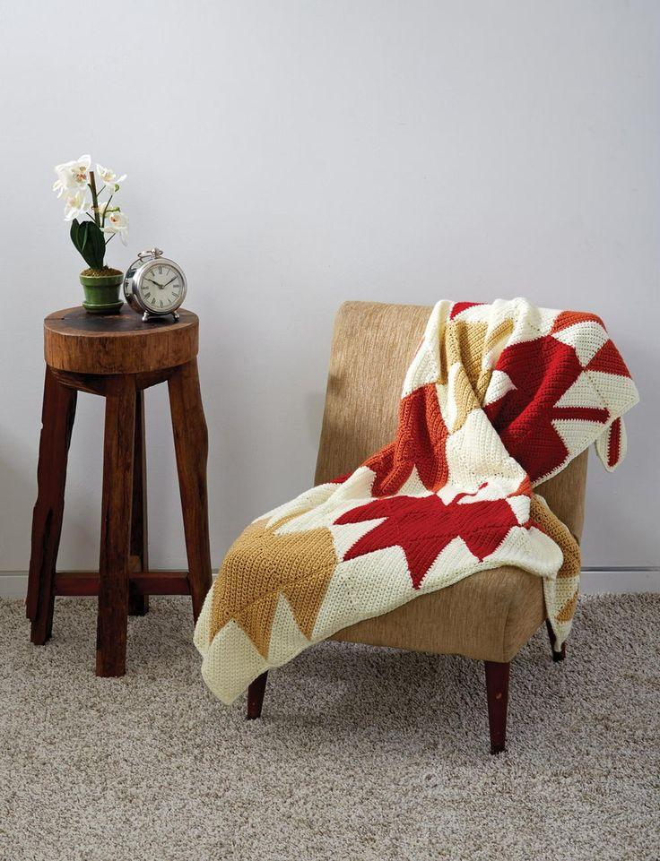 October Autumn Leaves Crochet Blanket | AllFreeCrochetAfghanPatterns.com