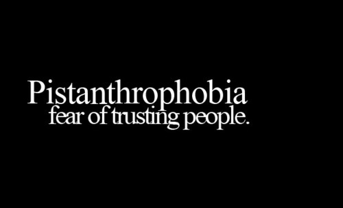 fear of trusting people