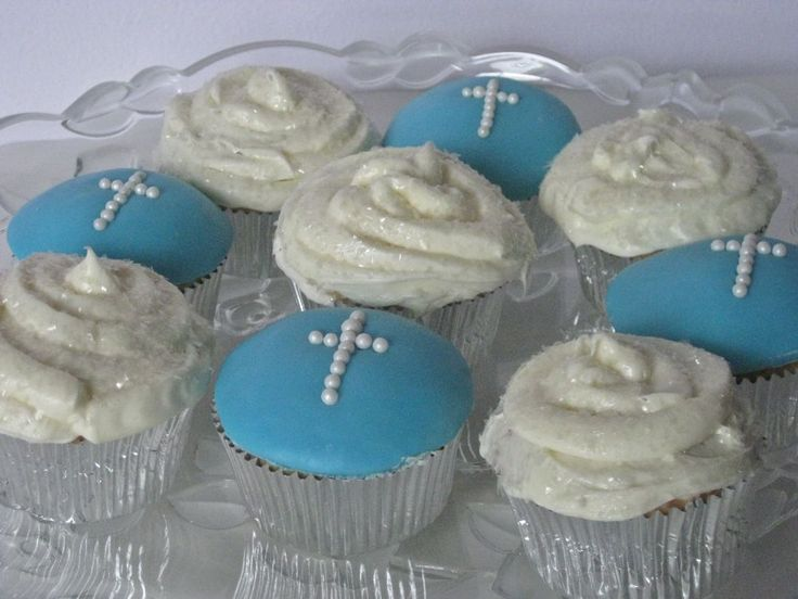 First Communion Cupcakes Make cake decoration and cake baking easy with these cake tins.
