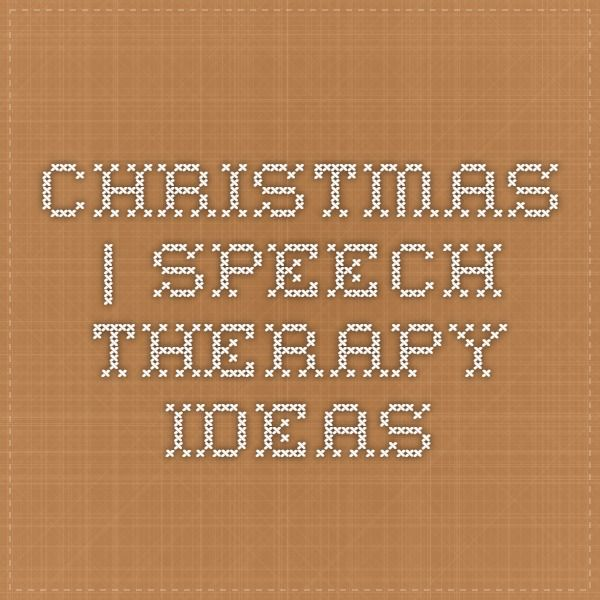 Speech Therapy Ideas: 13 Christmas Speech and Language Materials. Pinned by SOS Inc. Resources. Follow all our boards at pinterest.com/sostherapy/ for therapy resources.