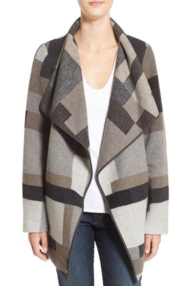 French Connection French Connection Geometric Print Blanket Coat available at #Nordstrom