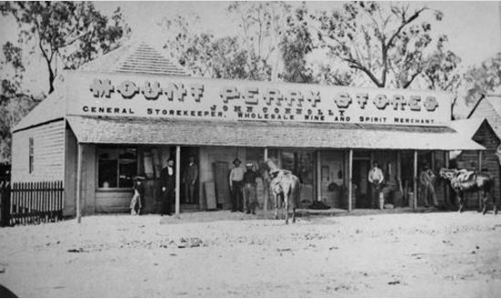 Circa 1875 - Mount Perry stores run by John Connolly Photo courtesy of SLQ