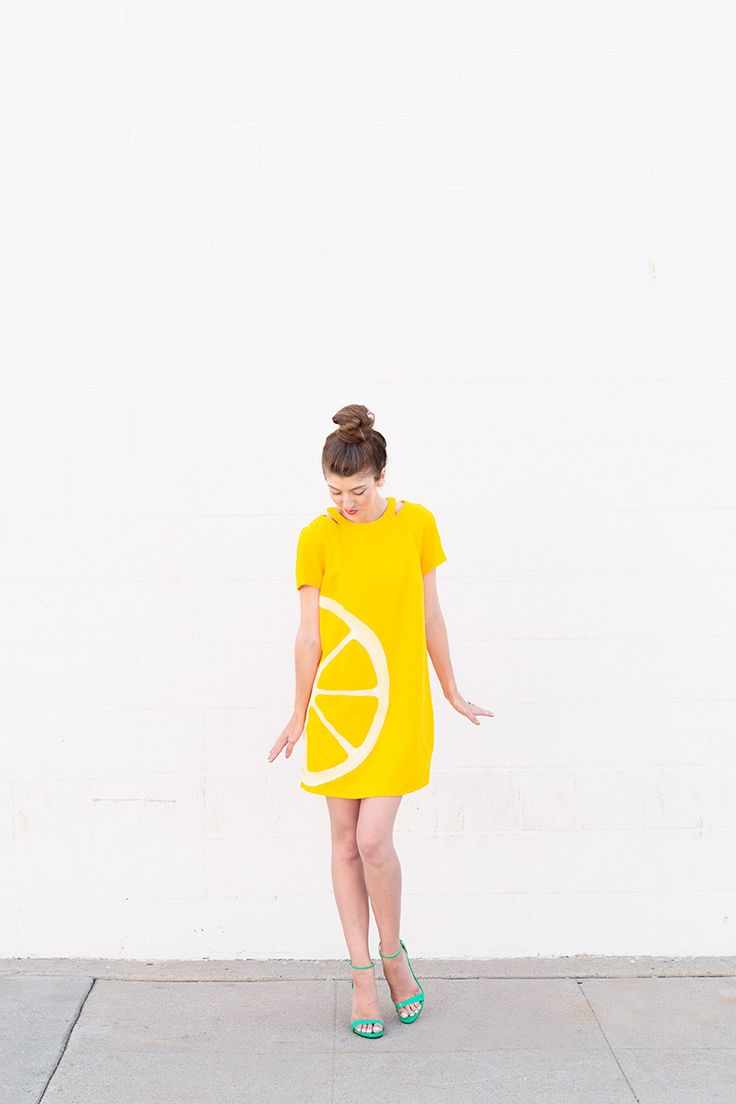 DIY Orange Slice Costume