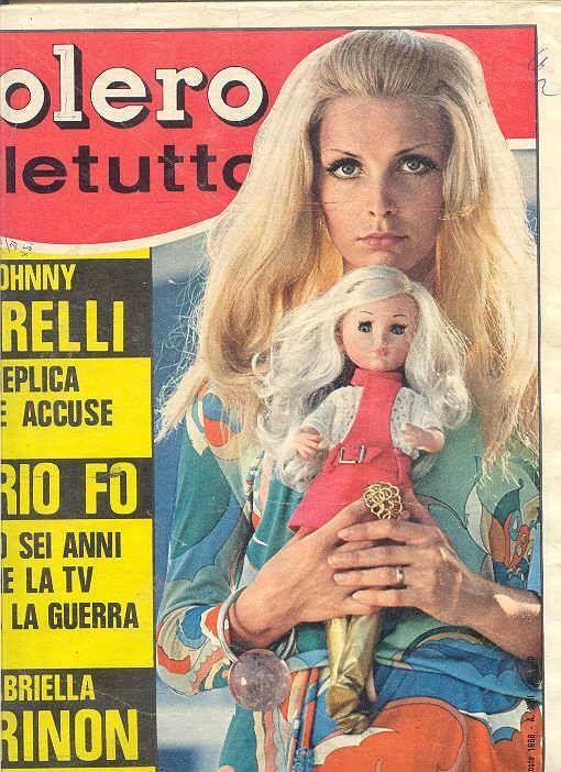 Sylvie con 'Trastevere' in bella mostra sulla copertina di Bolero tra le mani di Patty Pravo
